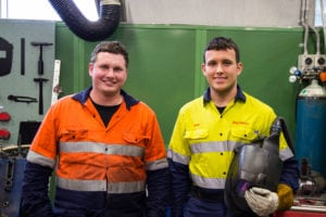 Ringwood Training Certificate III Engineering Fabrication Trade apprentices: Jeff Barneveld and Dean Strachan